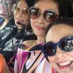 Gretchen Barretto goes to birthday lunch with friends via chopper