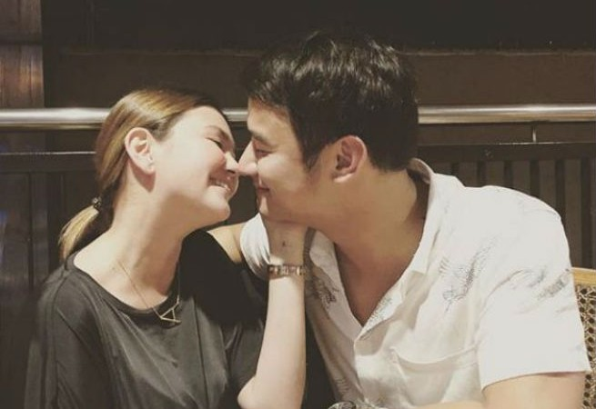 JM de Guzman leaves fans gushing over his sweet 'almost kissing' photo with Angelica Panganiban