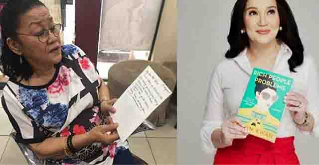 "Lolit Solis reacts to Kris Aquino's post:  ""siya na mismo ang Showbiz"""