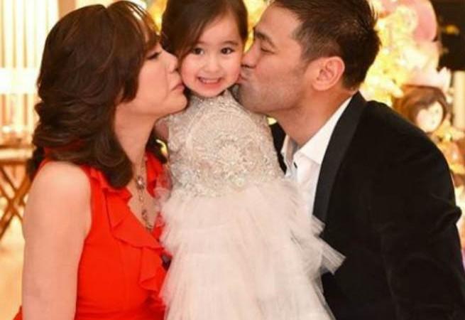 Proud parents Vicki Belo and Hayden Kho attend Scarlet Snow Belo's moving up ceremony