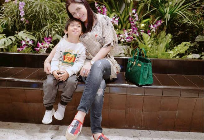 LOOK: Jinkee and Manny Pacquiao's youngest son dressed up in Gucci outfits