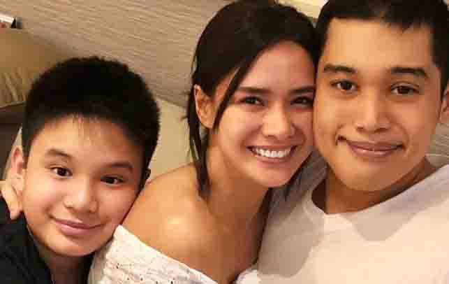 Joshua Aquino expresses happiness with the visit of Erich Gonzales
