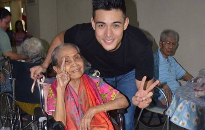 Xian Lim celebrates his birthday with the elderly