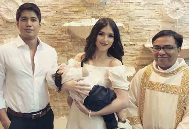 Kylie Padilla and Aljur Abrenica's baby Alas gets baptized