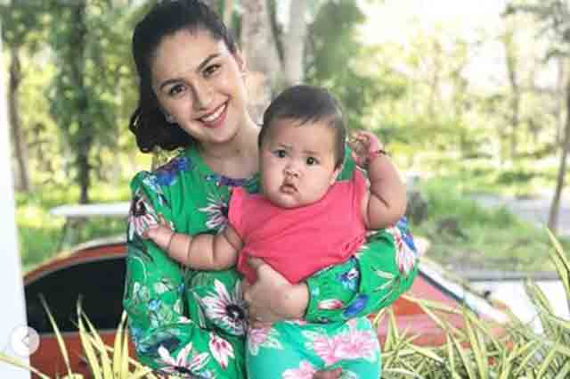 Spot the difference: Pauleen Luna before and after giving birth to baby Tali