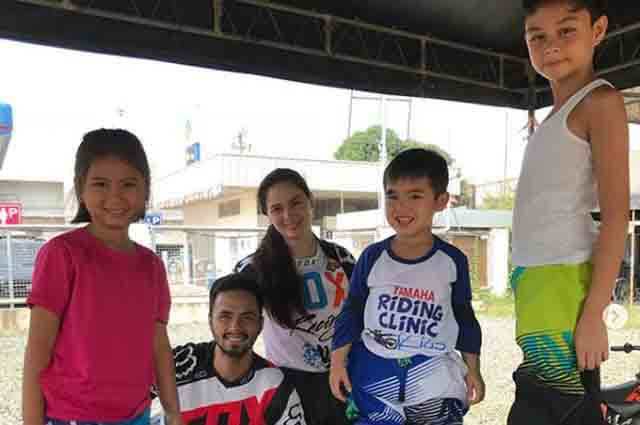 Cool parents Kristine Hermosa and Oyo Sotto share same interest with their kids— motocross