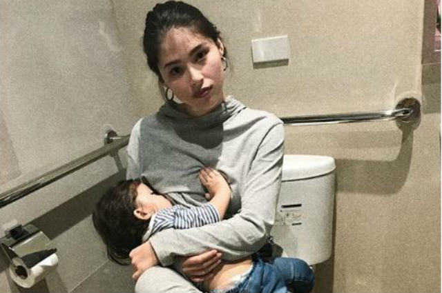Kylie Padilla draws mixed reaction over her photo breastfeeding baby Alas inside the restroom