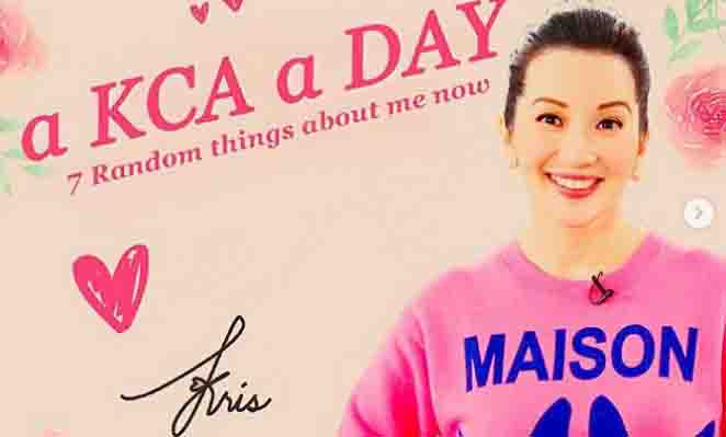Kris Aquino shares seven random things about herself