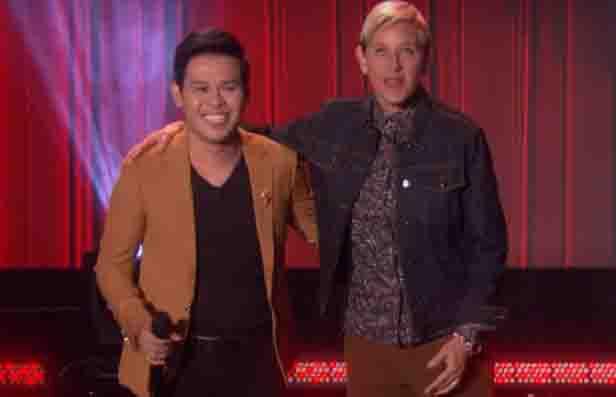 Ellen DeGeneres sends Marcelito Pomoy to Las Vegas to meet Celine Dion