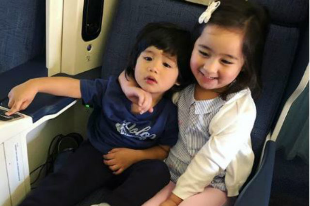LOOK: Scarlet Snow Belo and Baby Seve's adorable photo on the plane