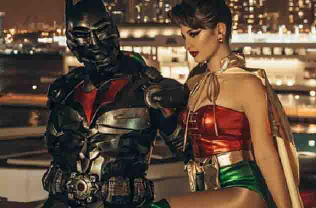 """Billy Crawford and Coleen Garcia as """"Batman and Robyn"""""""