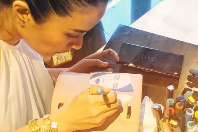 WATCH: Heart Evangelista shows how she paints her bags