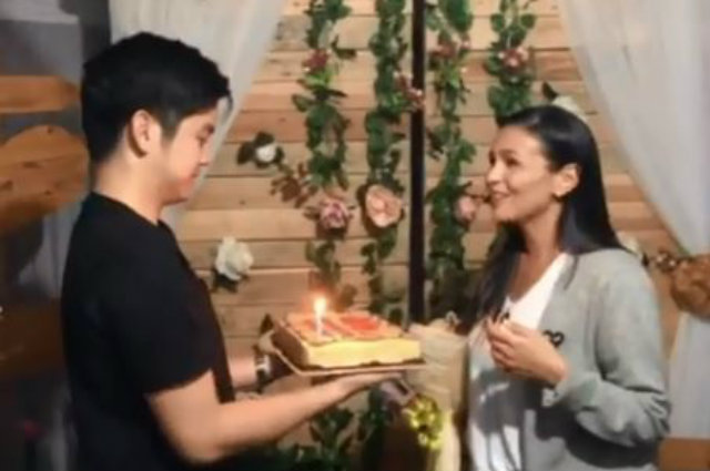 """WATCH: """"Ngayon at Kailanman"""" cast and crew prepare a sweet bridal surprise for Iza Calzado on set"""