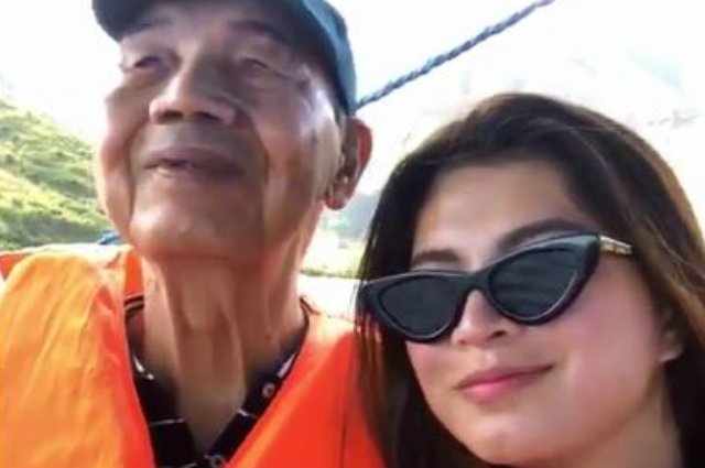 Angel Locsin spends sweet bonding moment with her dad