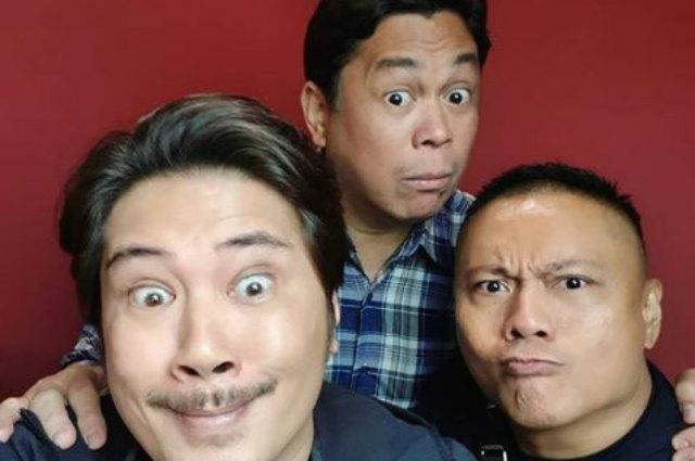 """Janno Gibbs reunites with """"Si Mokong, si Astig, at si Gamol"""" co-stars Dennis Padilla and Andrew E"""