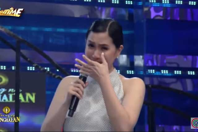 """WATCH: Mariel Padilla gets emotional on air over motherhood topic on """"It's Showtime"""""""