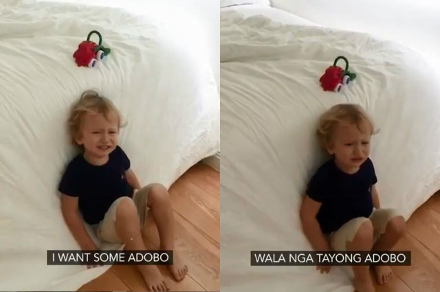 WATCH: Baby Archie's adorable tantrum video while craving for 'adobo' goes viral