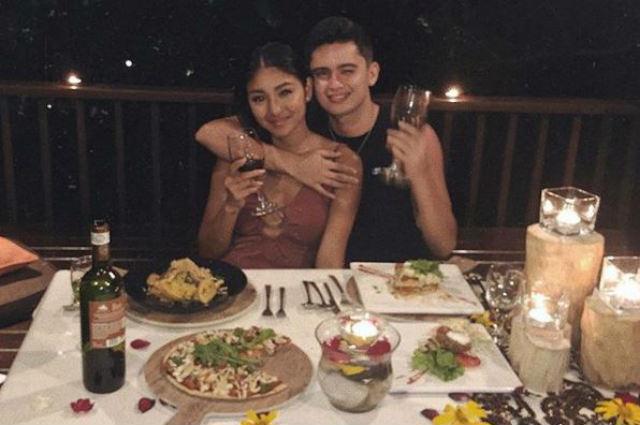 LOOK: Nadine Lustre and James Reid's romantic anniversary dinner date in Batangas