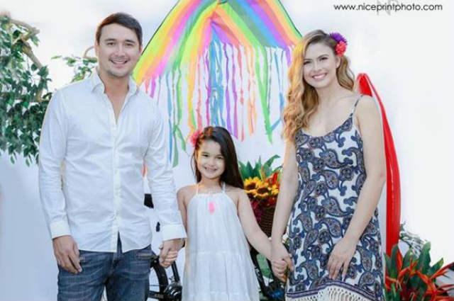 John Estrada and Priscilla Meirelles' daughter Anechka turns 7