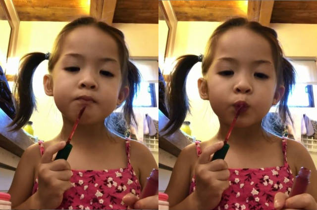 WATCH: Baby Luna Agoncillo in her super cute make up vlog