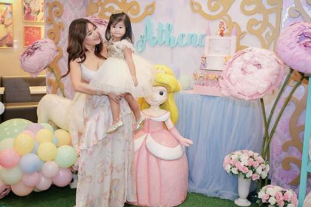 Rufa Mae Quinto's daughter Athena celebrates 2nd birthday with a princess-themed party