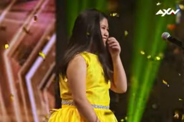 """WATCH: 10-year-old Pinay gets a golden buzzer at """"Asia's Got Talent"""""""