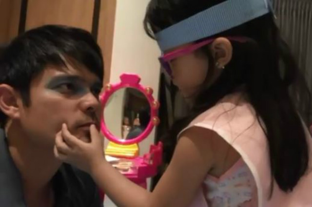 WATCH: Zia Dantes glams up Dingdong Dantes with her make up skills