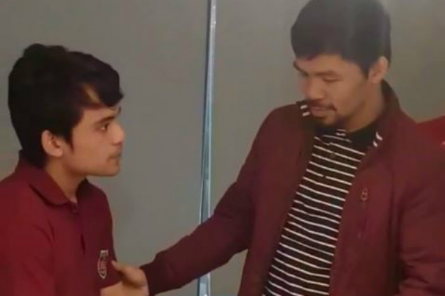 WATCH: Manny Pacquiao teaches son Jimuel some boxing moves