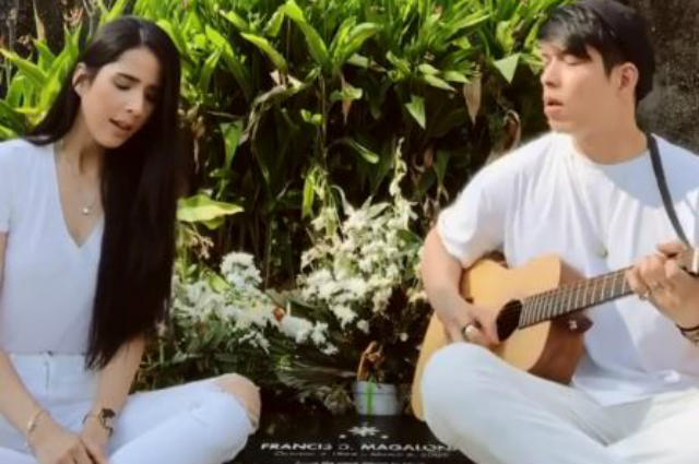 "WATCH: Maxene Magalona shows dad's 'appearance' after her ""Kaleidescope World"" cover with husband"