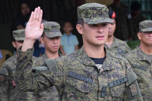 LOOK: Matteo Guidicelli officially joins the Philippine Army
