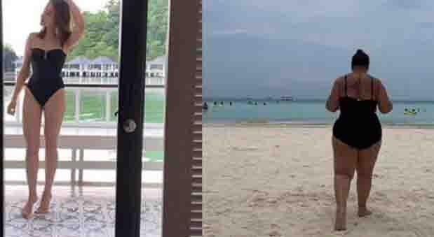 Karla Estrada humorously post side by side bikini photo with Bea Alonzo