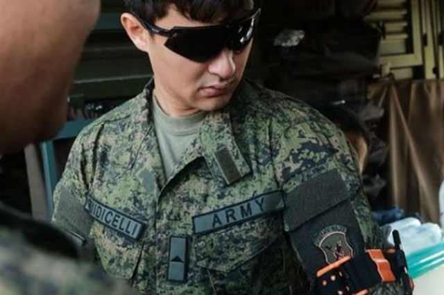 Matteo Guidicelli conferred 2nd Lieutenant rank by the Philippine Army