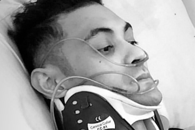 Gab Valenciano involved in a motorcycle racing accident