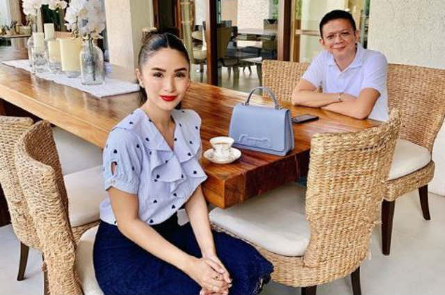 """Heart Evangelista hits back at basher referring to her bag on the table as """"rude"""""""
