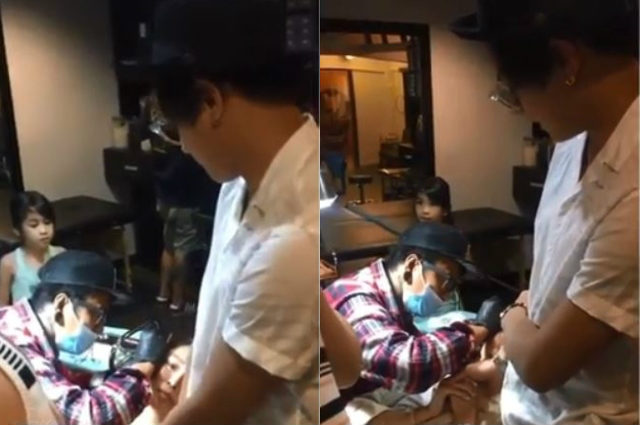 WATCH: Daniel Padilla comforts Kathryn Bernardo while having her ear piercing