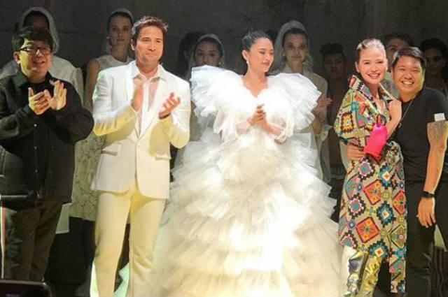 Kim Chiu, Bela Padilla, Sam Milby walk on the runway of New York fashion show