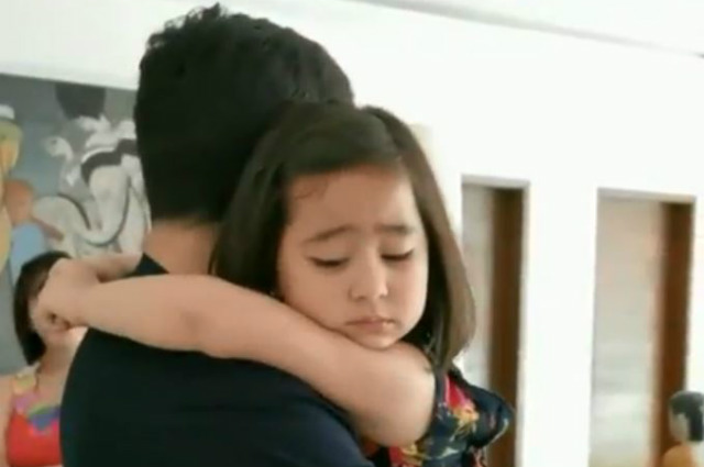 WATCH: Scarlet Snow Belo gets sad as she bids goodbye to Alden Richards after play time