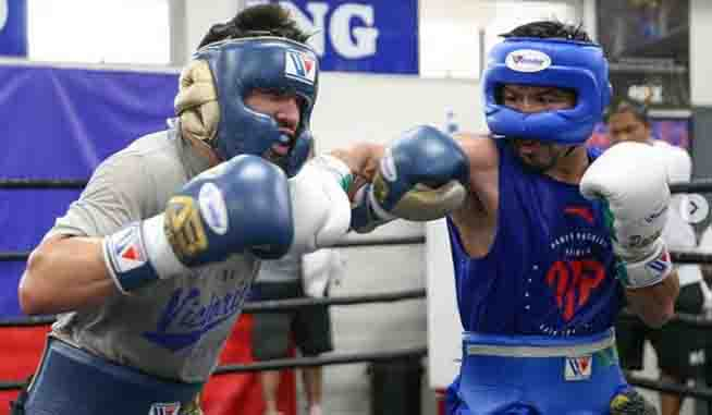 Manny Pacquiao handa ng bugbugin si Keith Thurman sa ring