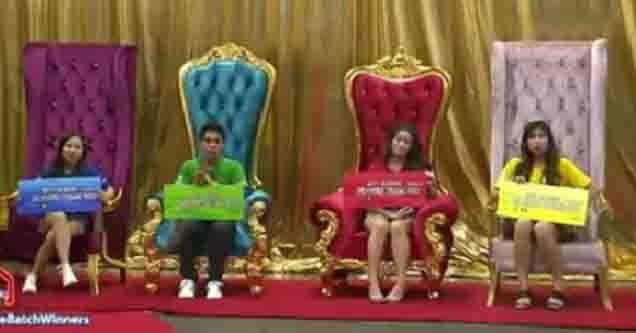 """PBB: Otso"" batch winners:  Lie, Yamyam, Ashley, Kiara"