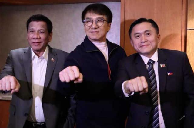 LOOK: Duterte, Go meet Jackie Chan in China