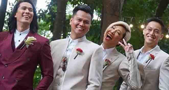 Photos of Vice Ganda as groomsman goes viral