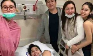 Marjorie and Julia Barretto visit Dani after giving birth to baby Millie