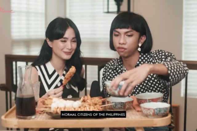 WATCH: Heart Evangelista tries 'isaw' with Mimiyuuuh