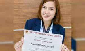 Alexa Ilacad named as one of her school's Dean's Listers