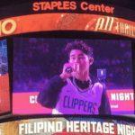WATCH: Iñigo Pascual performs during half-time of NBA game