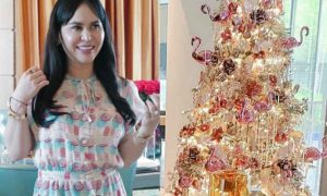 Jinkee Pacquiao is all set for the holidays with her stunning white Christmas tree