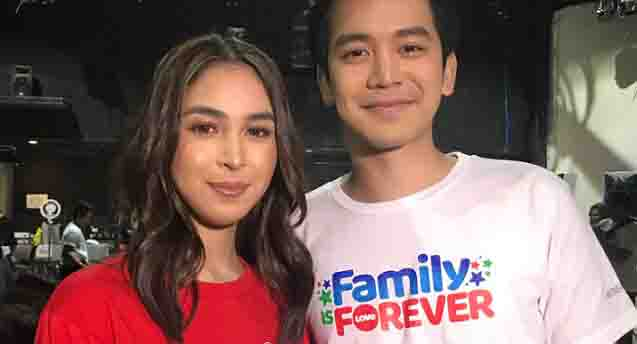 Julia Barretto and Joshua Garcia together in ABS-CBN Christmas ID taping
