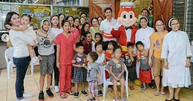 Pauleen Luna and Vic Sotto celebrate Tali's 2nd birthday at St. Rita orphanage